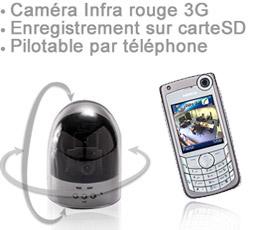 3g cam68 cam ra autonome 3g infra rouge pilotable par t l phone. Black Bedroom Furniture Sets. Home Design Ideas