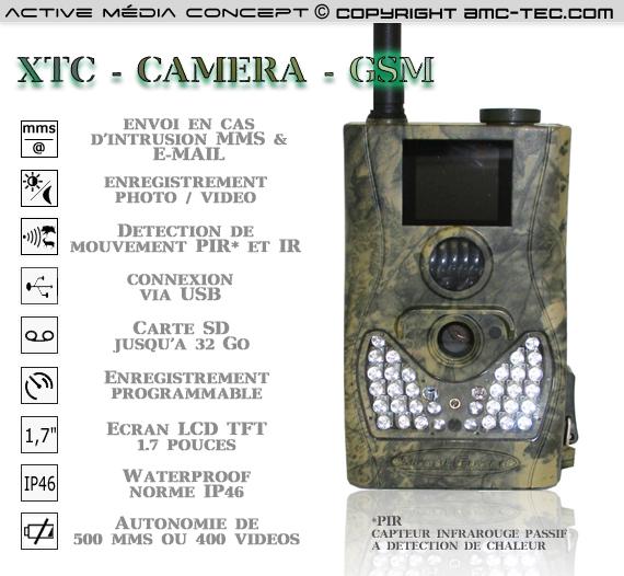 xtc camera gsm cam ra mms et e mail waterproof infrarouge autonome 5 m gapixels avec d tection. Black Bedroom Furniture Sets. Home Design Ideas