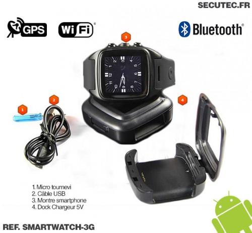 smartwatch 3g montre smartphone 3g gsm wifi gps bluetooth avec cam ra hd. Black Bedroom Furniture Sets. Home Design Ideas