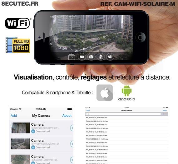 cam wifi solaire m kit autonome cam ra enregistreur wifi waterproof ext rieure hd 1080p. Black Bedroom Furniture Sets. Home Design Ideas