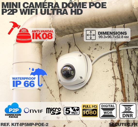kit ip5mp poe 2 kit de vid osurveillance 5 mpx int rieur ext rieur avec enregistreur ip 1to et. Black Bedroom Furniture Sets. Home Design Ideas